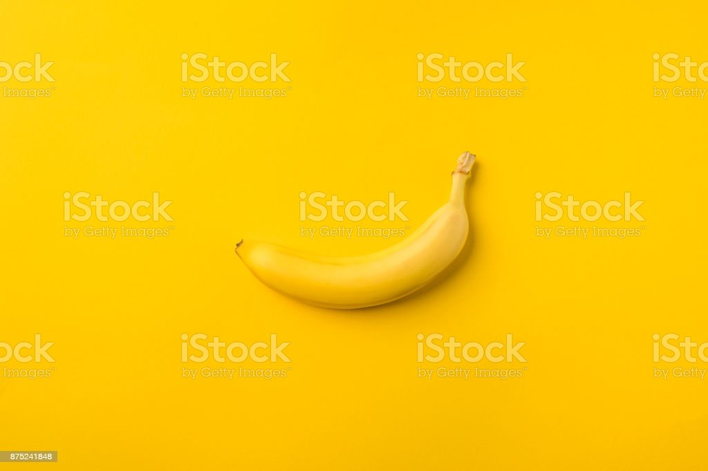 One ripe banana stock photo