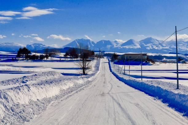冬の道 - 雪景色 ストックフォトと画像
