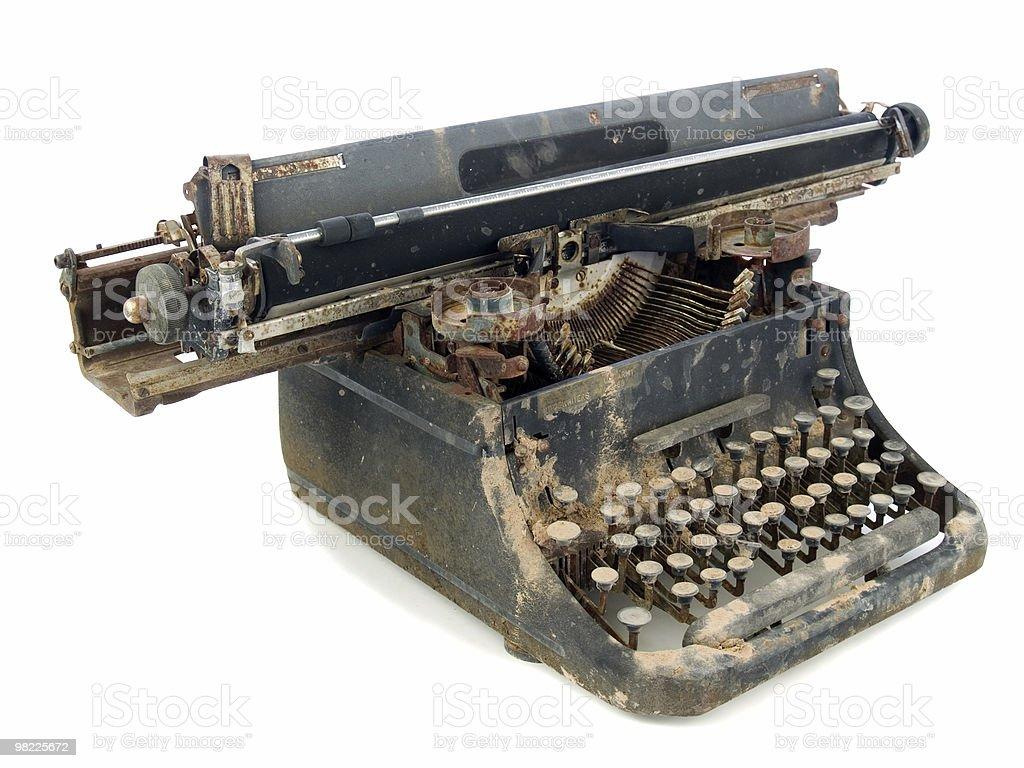 Un robusto macchina da scrivere foto stock royalty-free