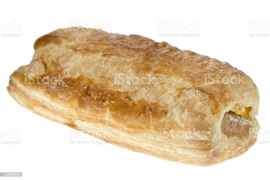 One Sausage Roll stock photo