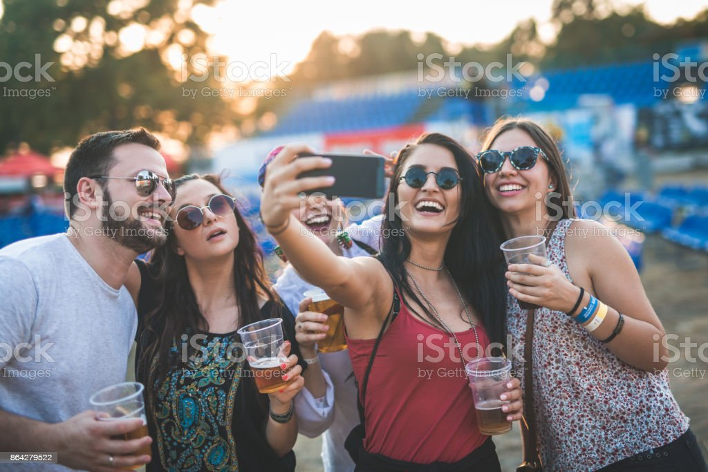 One selfie and party can start royalty-free stock photo