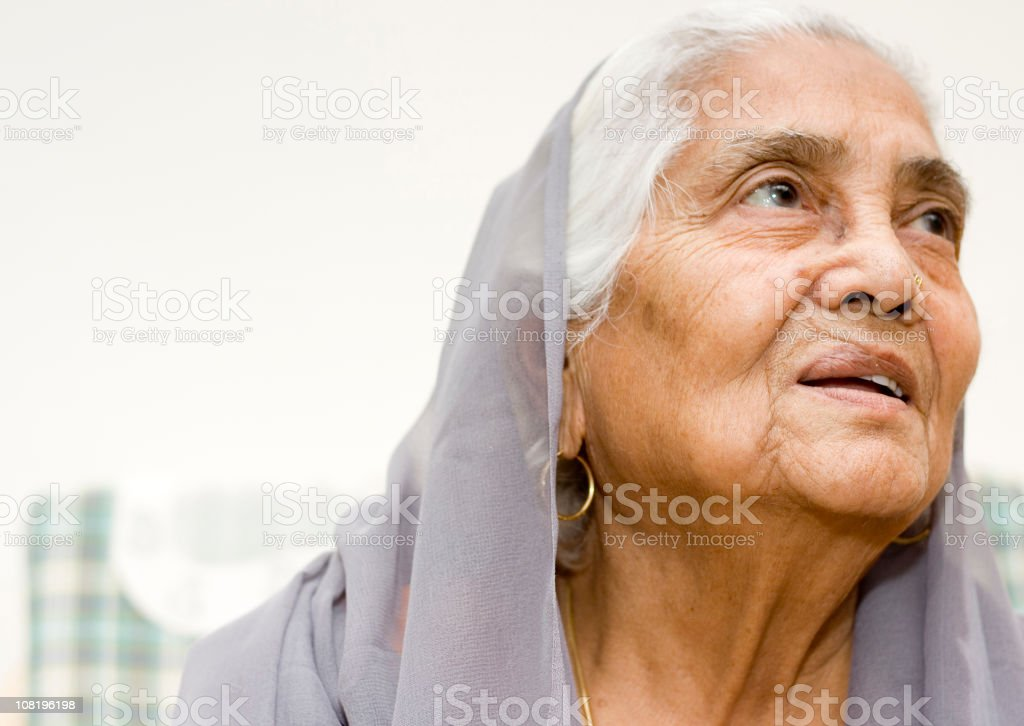 One senior Asian Indian woman lady female royalty-free stock photo