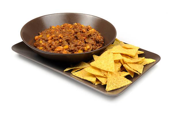 eine portion chili con carne - wiberg gewürze stock-fotos und bilder