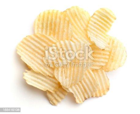 One 1 oz. serving of plain wavy / crinkle potato chips.