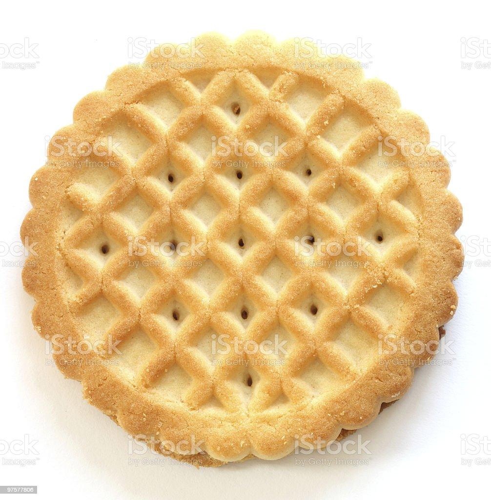 Un beurre biscuits Sablé photo libre de droits