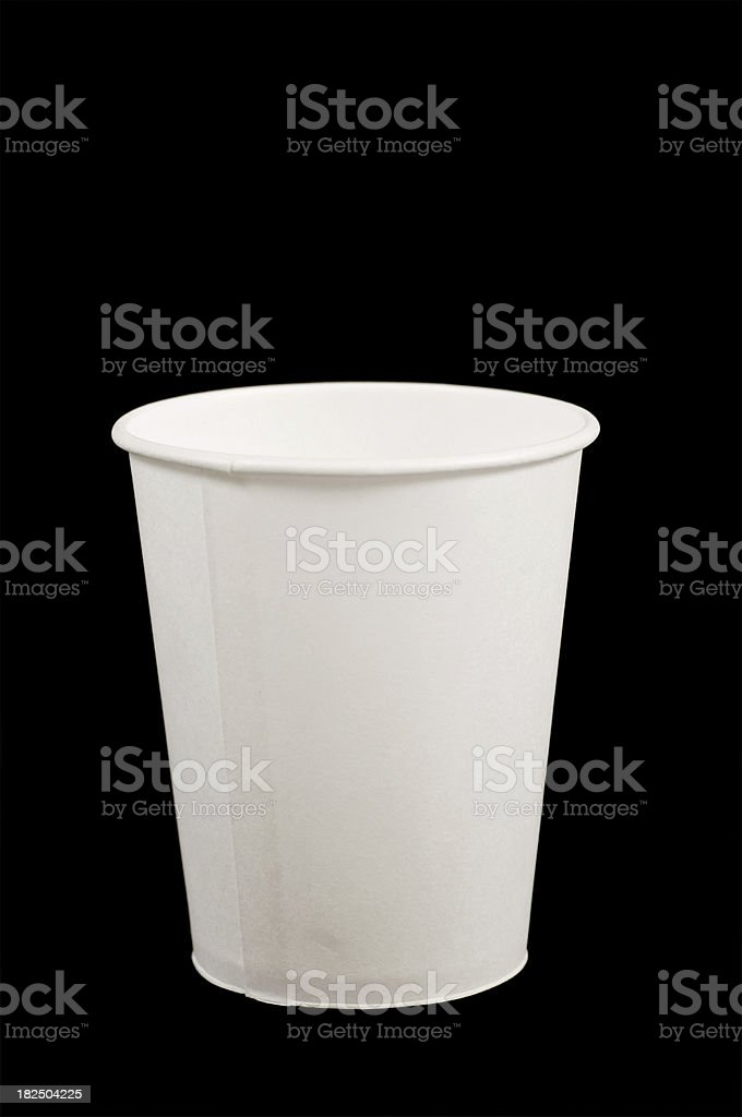 one single blank paper cup stock photo