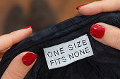one size fits none label