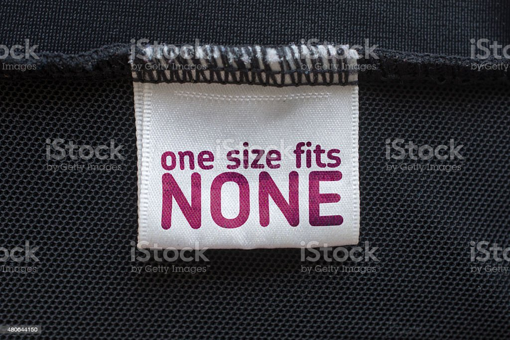 one size fits none stock photo