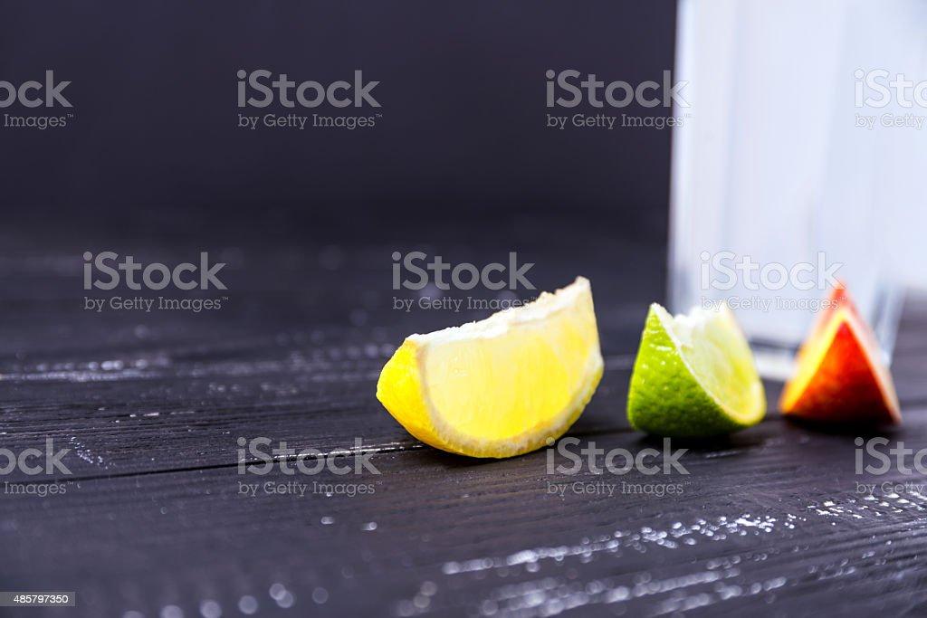 One slice of lemon. stock photo