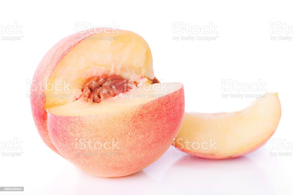 One Sliced Peach stock photo