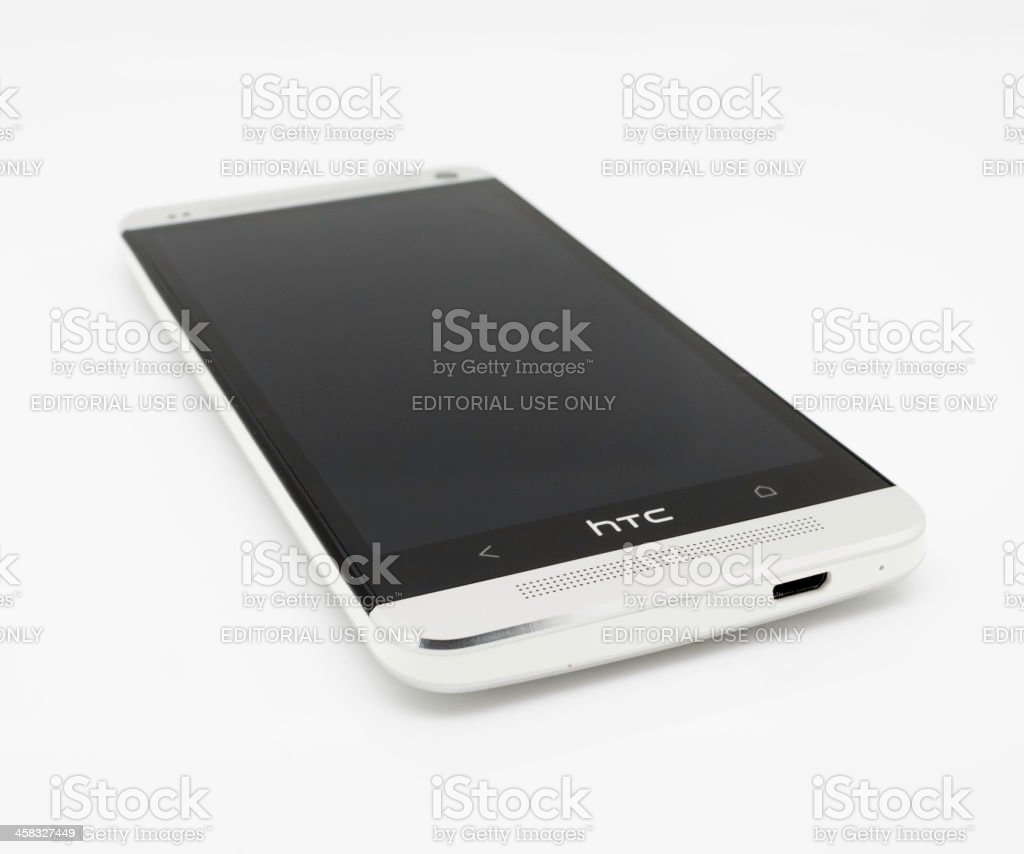 HTC One Smartphone Handset royalty-free stock photo