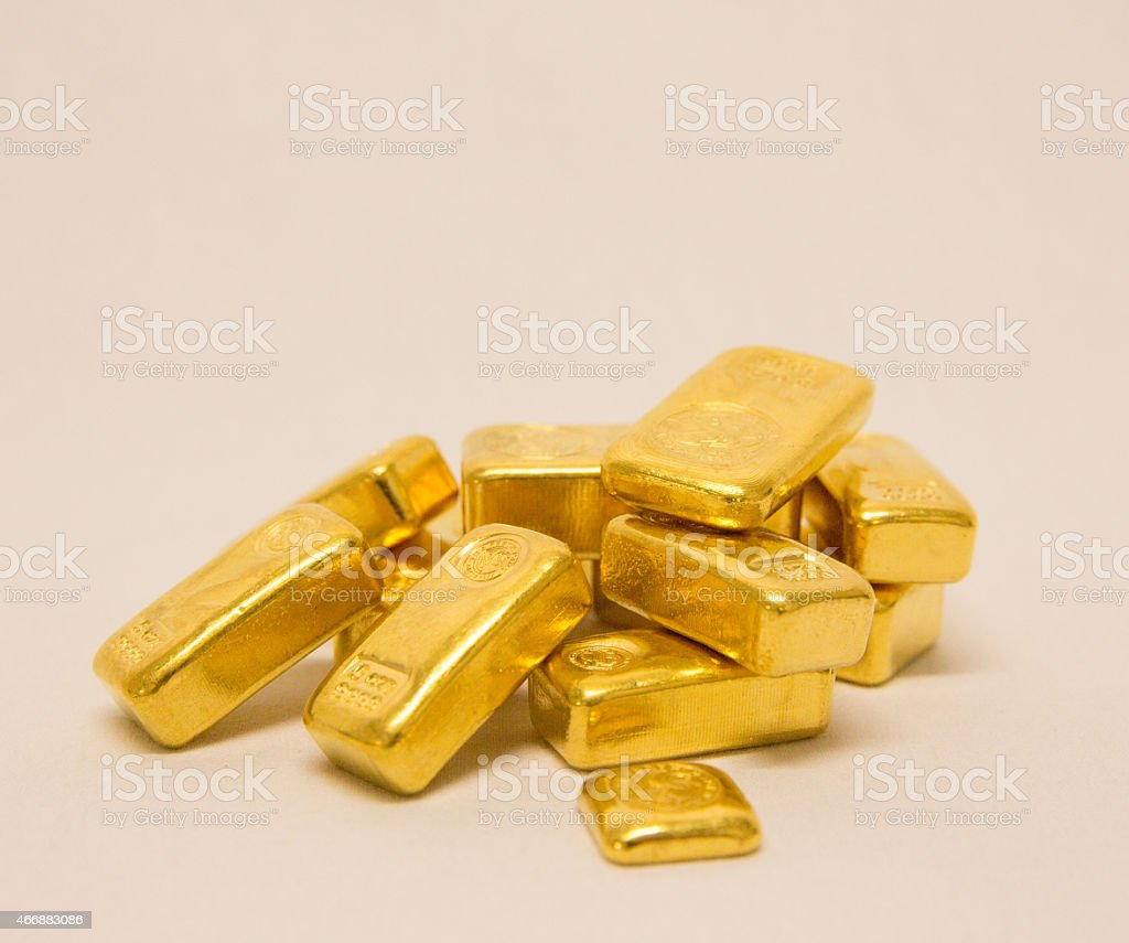 One Stash of Pure Gold the Ultimate Insurance. stock photo