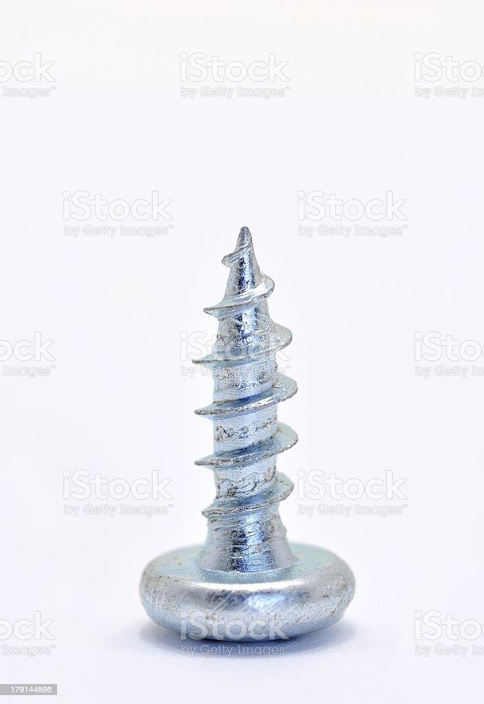 One steel screw royalty-free stock photo