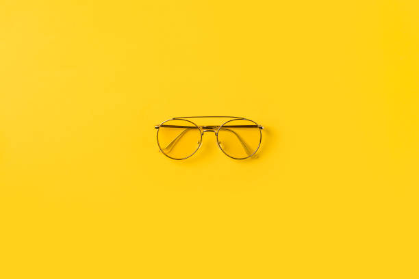 one stylish glasses - isolated colour stock photos and pictures
