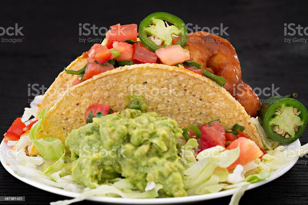 One Taco royalty-free stock photo