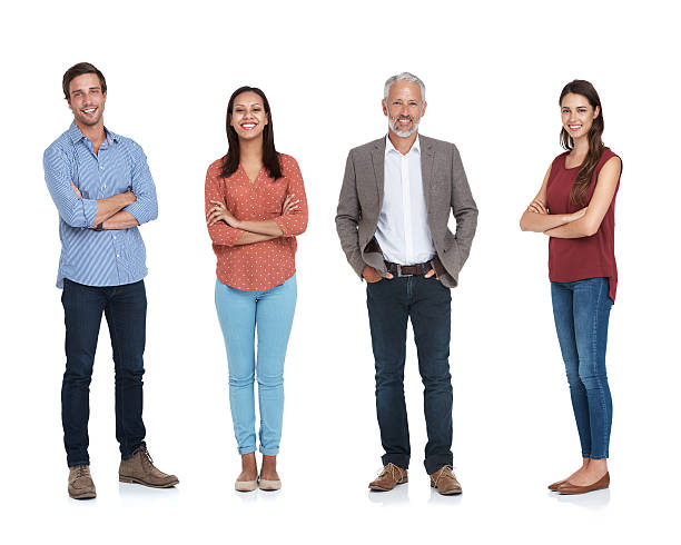 One team, one dream Studio shot of a happy team isolated on whitehttp://195.154.178.81/DATA/i_collage/pu/shoots/805304.jpg four people stock pictures, royalty-free photos & images