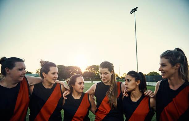 One team, one football dream stock photo