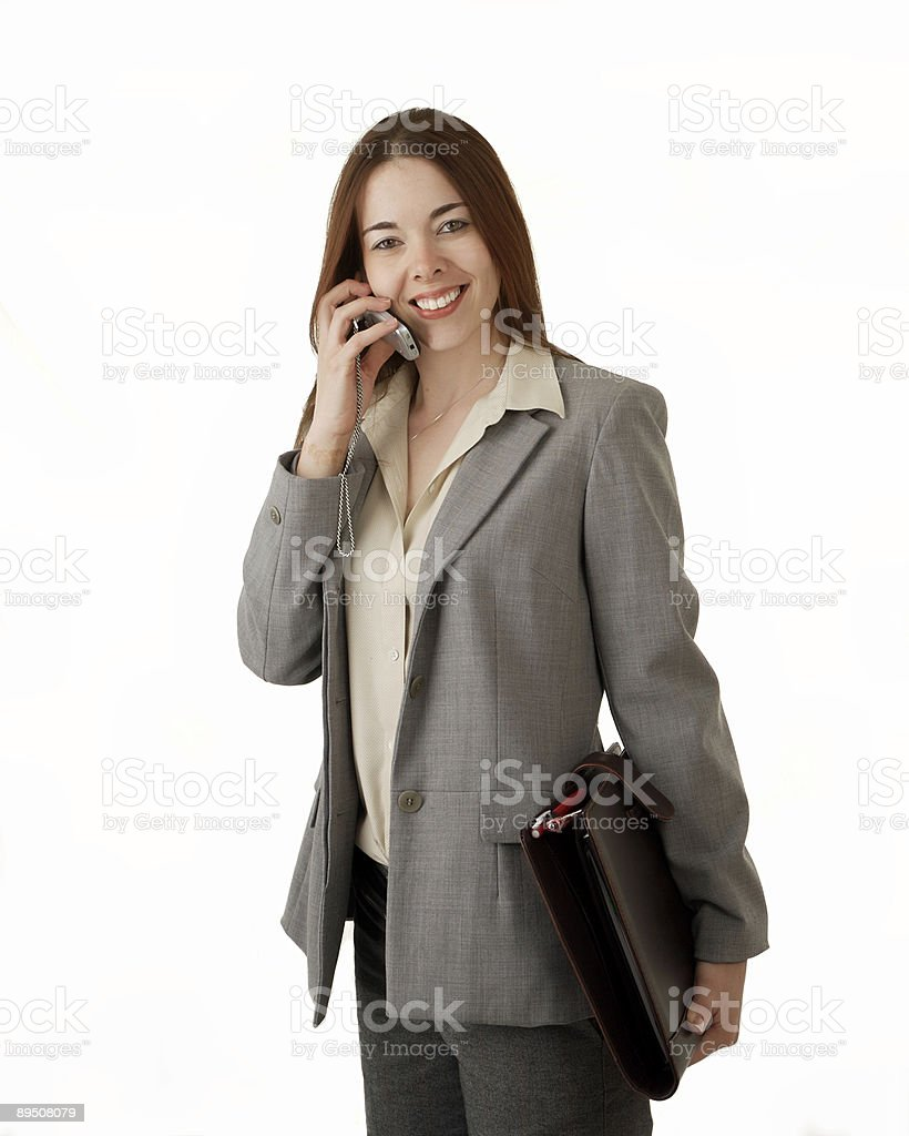 One the Phone royalty-free stock photo