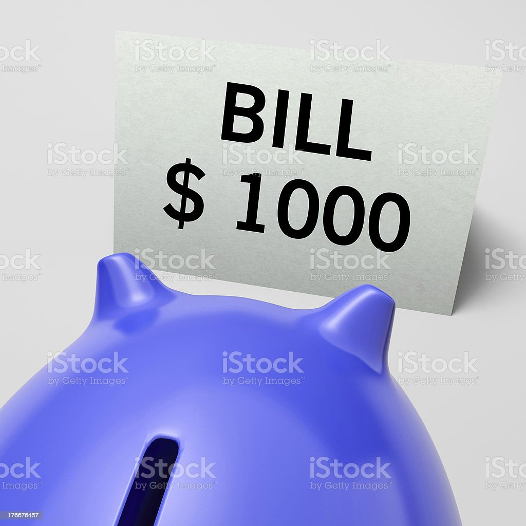 One Thousand dollars, usd Bill Showing Expensive Taxes royalty-free stock photo