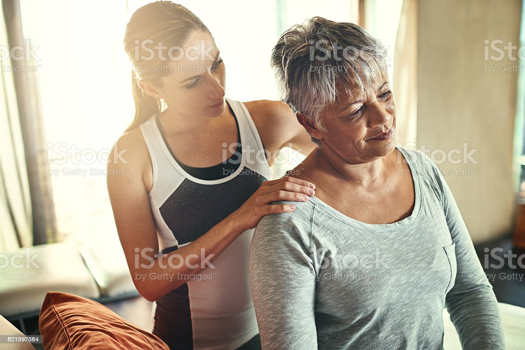One tight muscle can have a dramatic affect stock photo