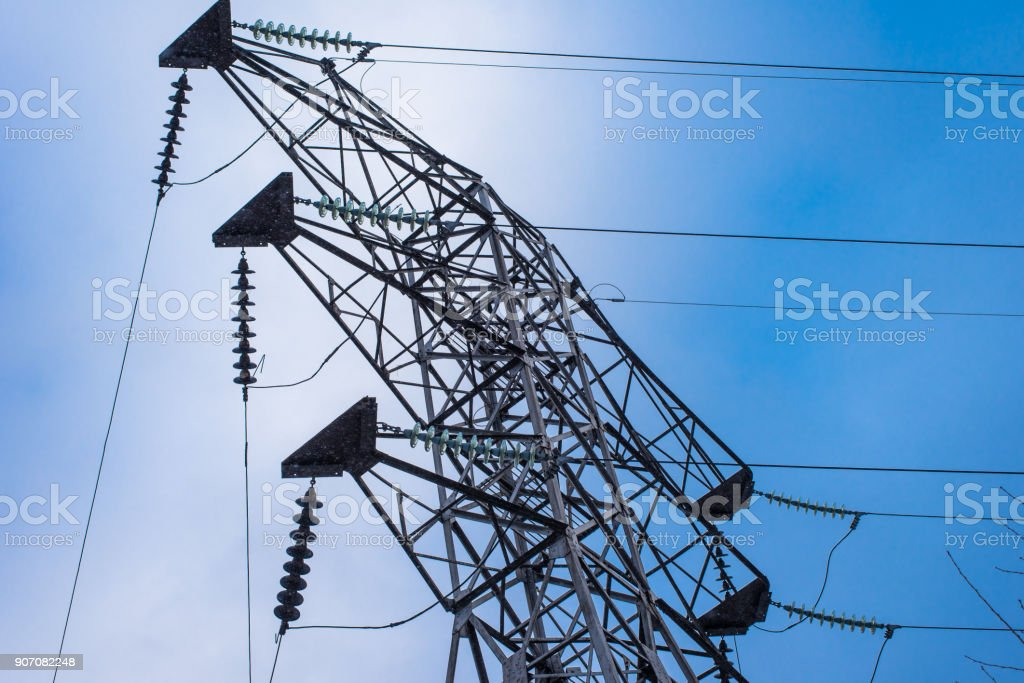 One tower of high-voltage electrical networks