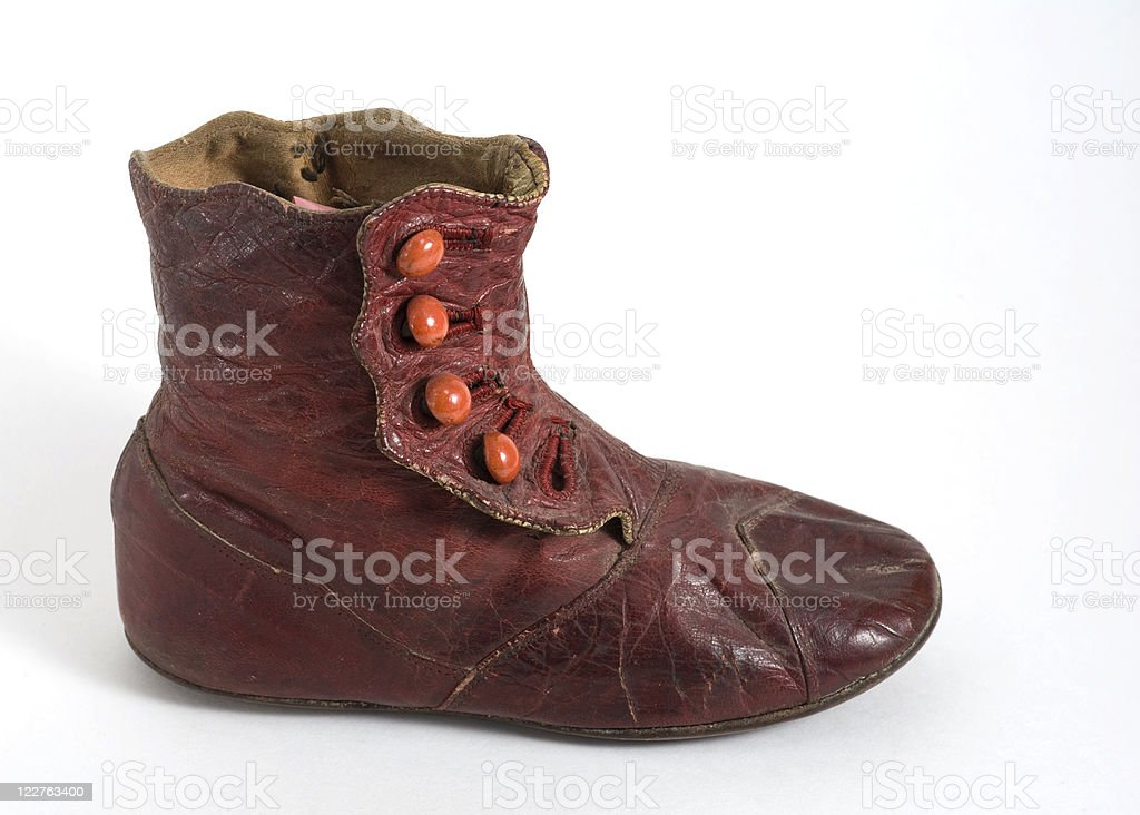 One, Two, Button My Shoe royalty-free stock photo