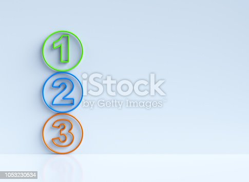 istock One two three - 3d progress steps 1053230534