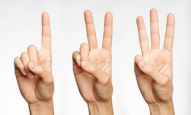 one, two, three - counting with fingers (xxxl) - number 1 stock pictures, royalty-free photos & images