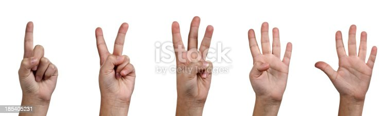 693519466 istock photo One, Two, Three, Four, Five - Counting with Fingers 185405231
