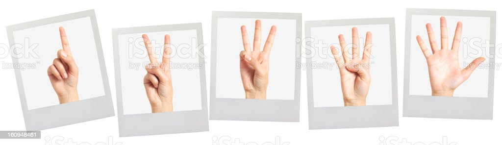 One, Two, Three, Four, Five stock photo