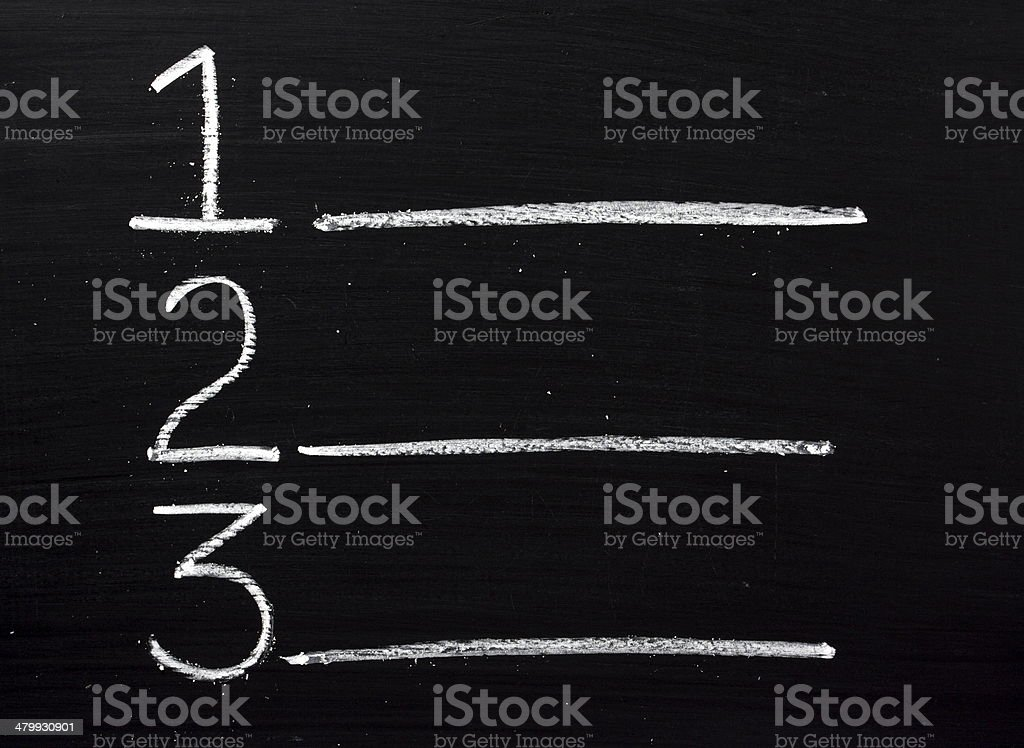 One Two Three stock photo