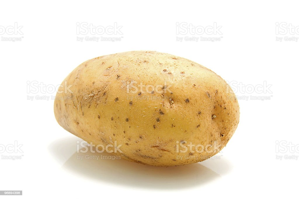 One unpeeled raw potato royalty-free stock photo