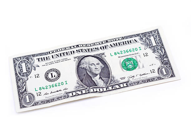 one us dollar banknote - dollar bill stock pictures, royalty-free photos & images