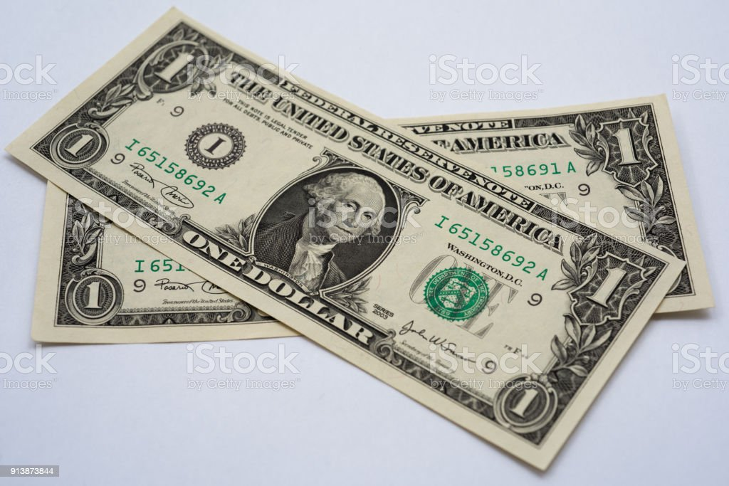 one us dollar note stock photo