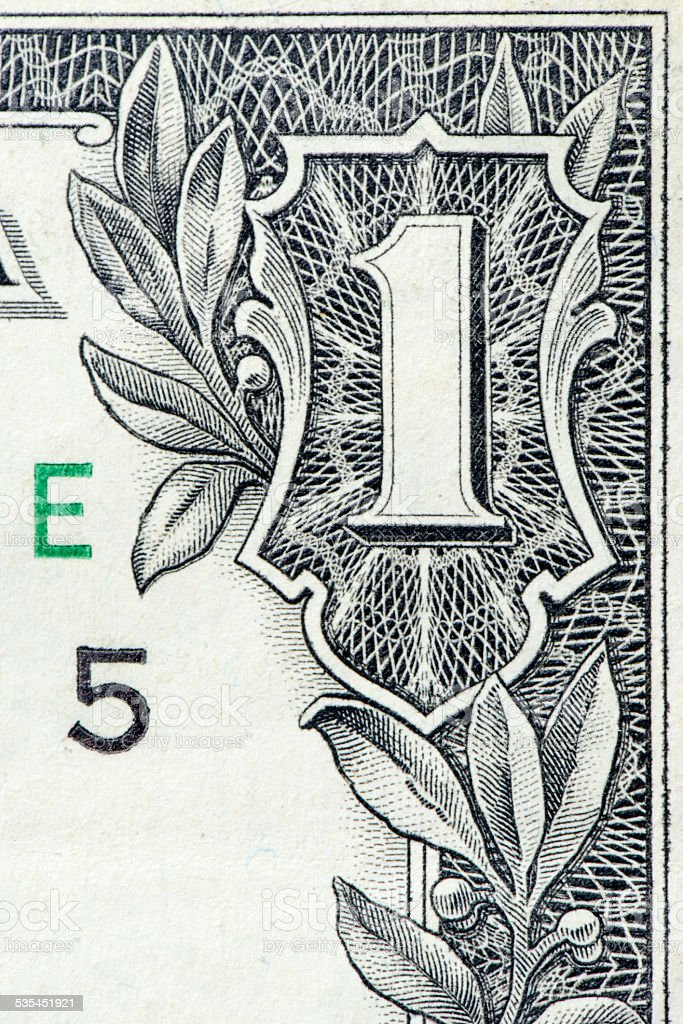 One US dollar stock photo