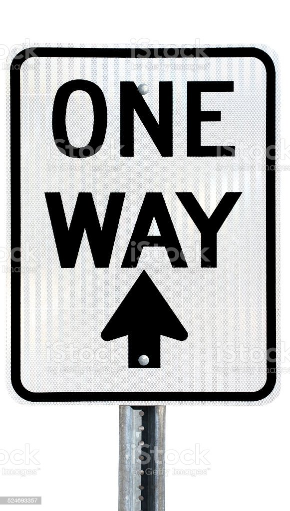 One Way Arrow Pointing Up Stock Photo More Pictures Of Arrow