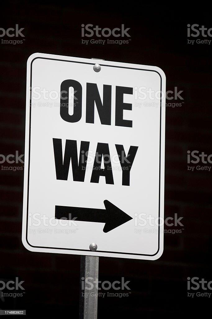 One way arrow sign royalty-free stock photo