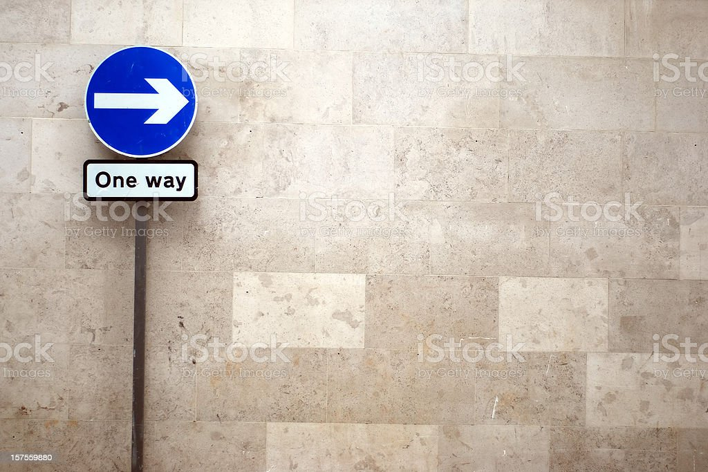 One way arrow sign with copy space stock photo