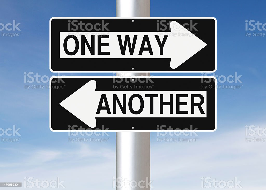 One Way or Another stock photo