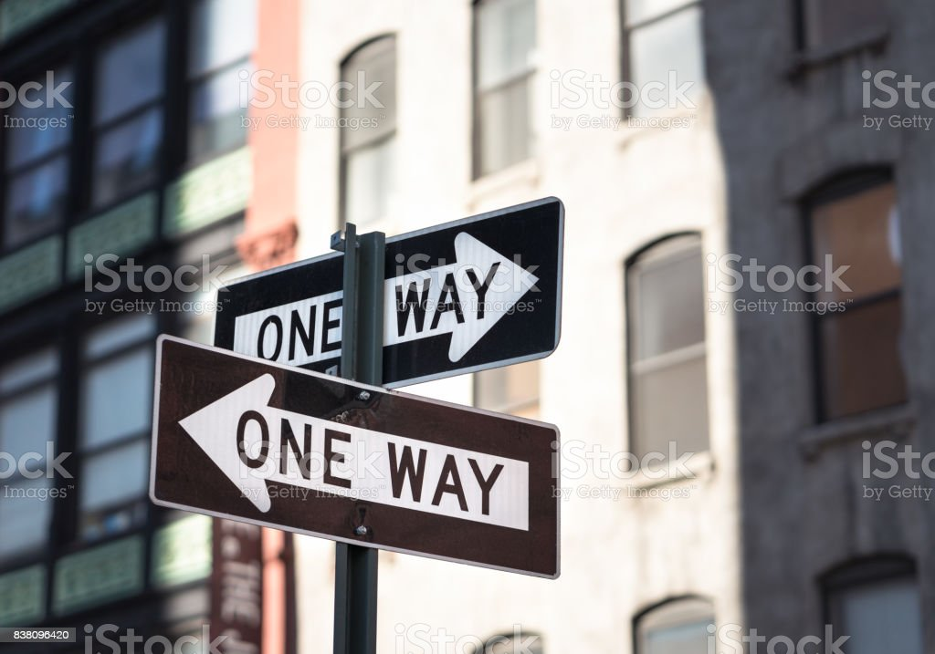 One way or the other - Road signs stock photo
