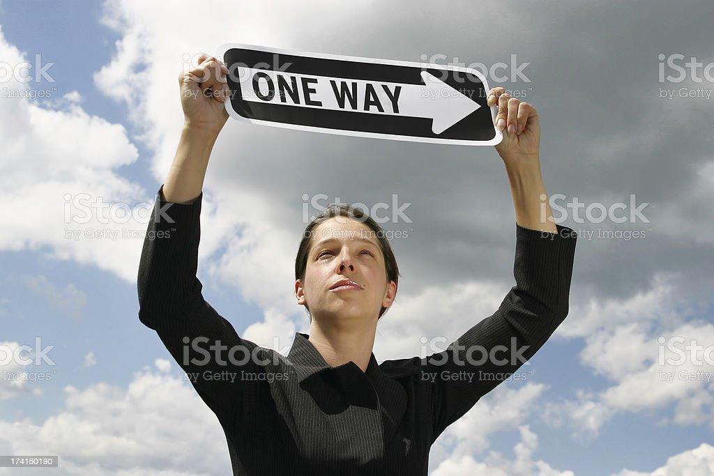 One Way royalty-free stock photo