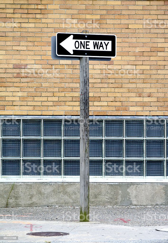 One Way royalty-free stock photo