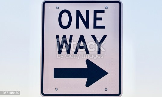 One Way Stock Photo More Pictures Of Arrow Symbol Istock
