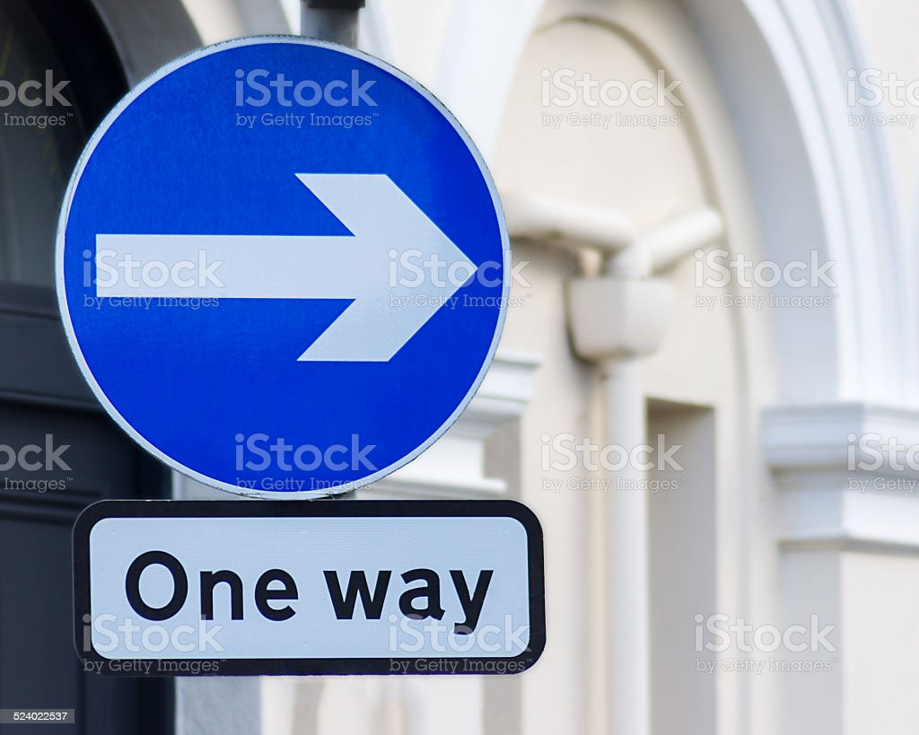 one way right stock photo