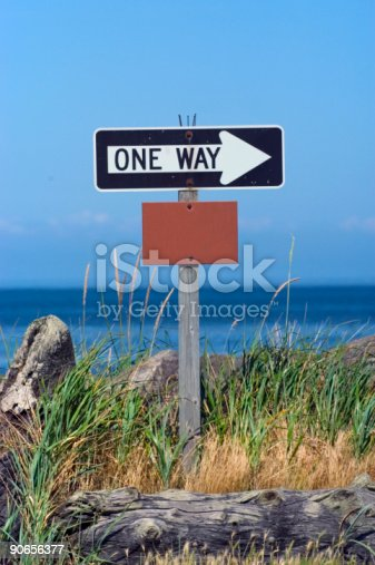 istock One way sign 90656377