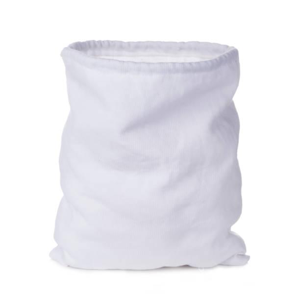 eine weiße leere tasche isoliert auf weißem hintergrund - geld schön verpacken stock-fotos und bilder