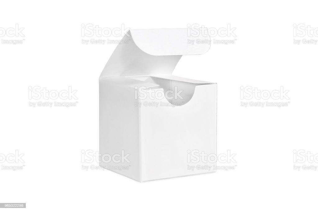 One white open box zbiór zdjęć royalty-free