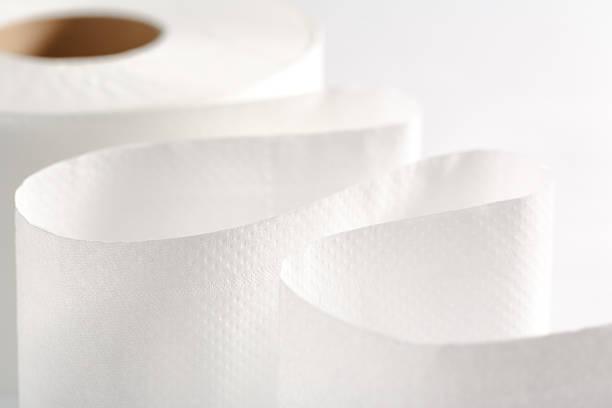 Eine weiße Toilettenpapier Roll – Foto