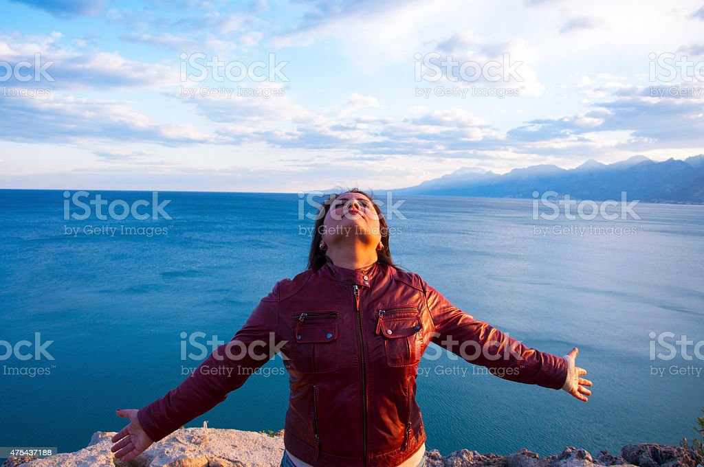 one woman only stock photo