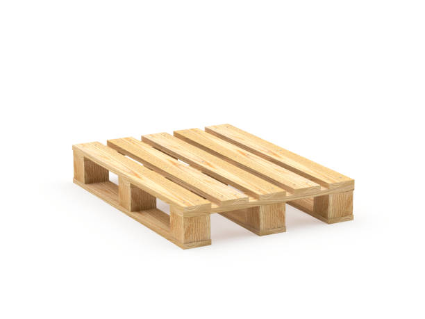 One wooden pallet stock photo